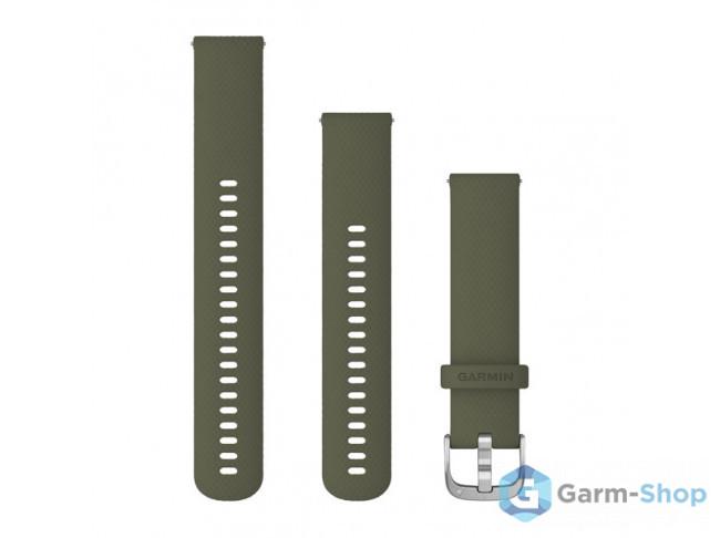 Quick Release 20 мм (силиконовый) травяной с серебристой застежк 010-12924-11 в фирменном магазине Garmin