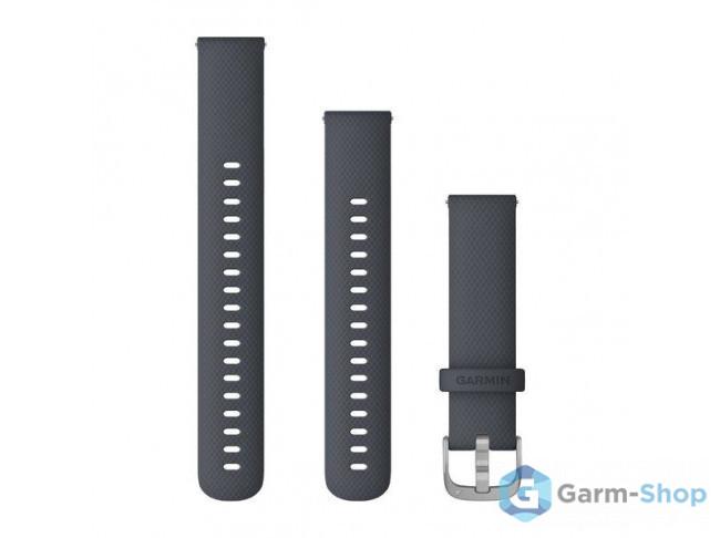 Quick Release 18 мм (силиконовый) темно-синий с серебристой заст 010-12924-30 в фирменном магазине Garmin